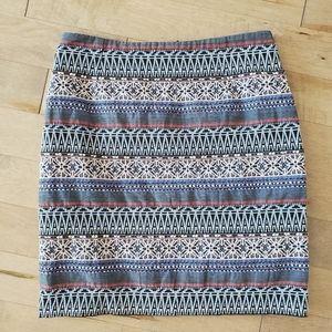High waisted embroidered Monsoon mini skirt